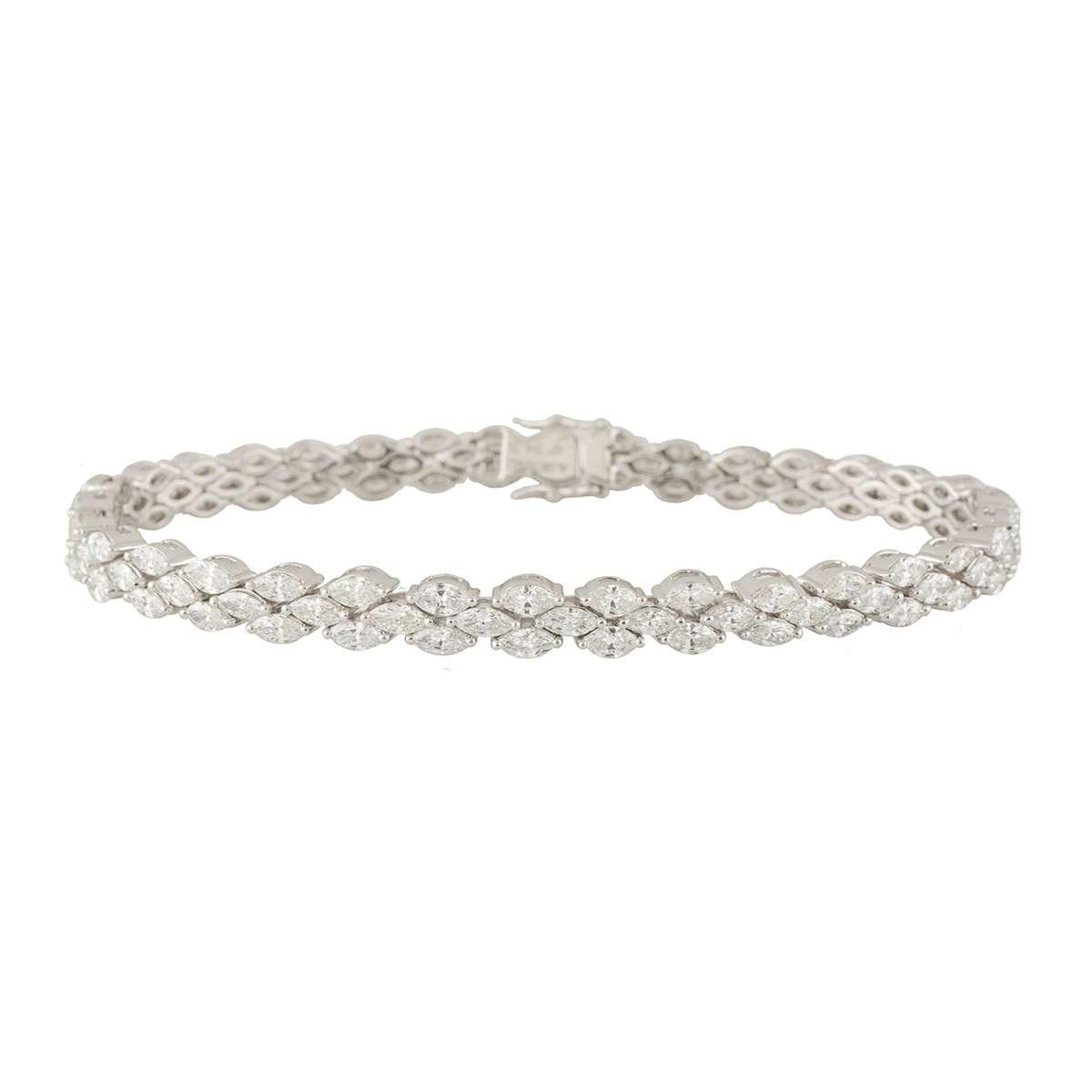 White Gold Diamond Bracelet 6.33ct G-H/VS